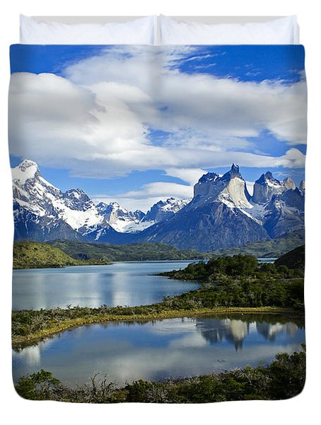 Springtime in Patagonia Duvet Cover by Michele Burgess