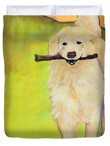 STICK TOGETHER Duvet Cover by Pat Saunders-White