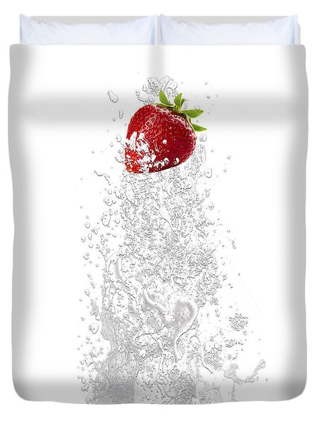 Strawberry Splash Duvet Cover by Marvin Blaine