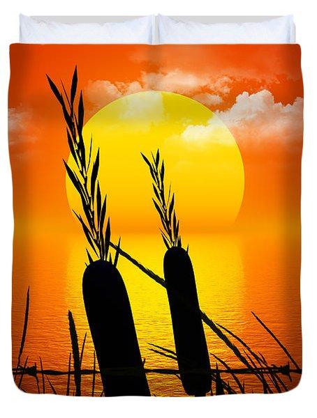 Sunset Lake Duvet Cover by Robert Orinski