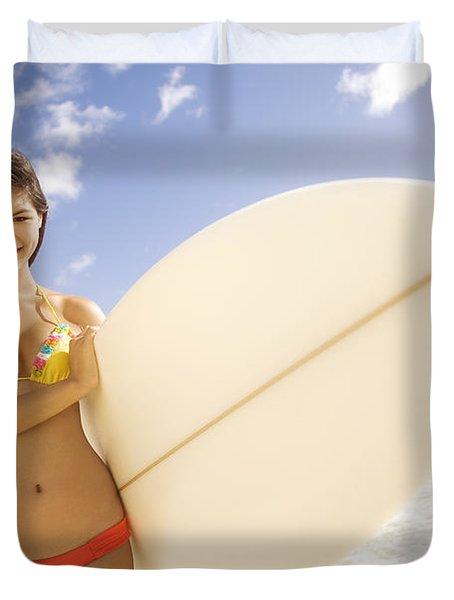 Surfer girl Duvet Cover by Sri Maiava Rusden - Printscapes