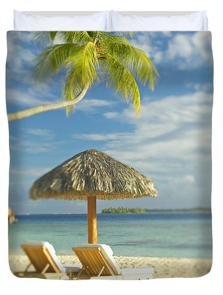 Tahiti, Bora Bora Duvet Cover by Kyle Rothenborg - Printscapes