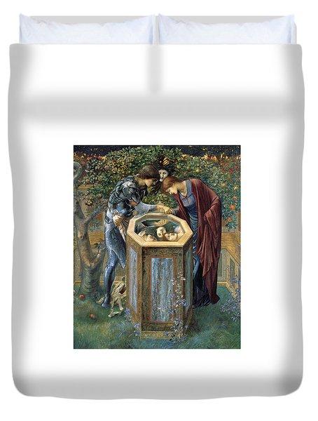 The Baleful Head Duvet Cover by Edward Burne-Jones