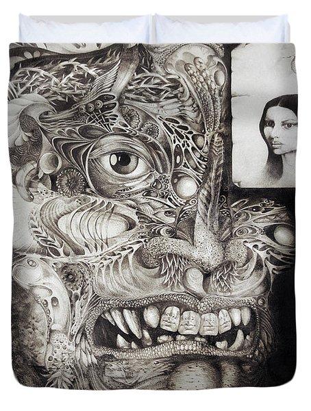 The Beast Of Babylon Duvet Cover by Otto Rapp