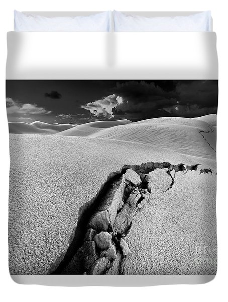 The Crack Of Dawn Duvet Cover by Julian Cook
