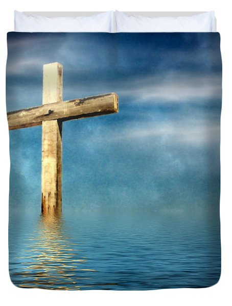 The Cross Duvet Cover by Joyce Dickens