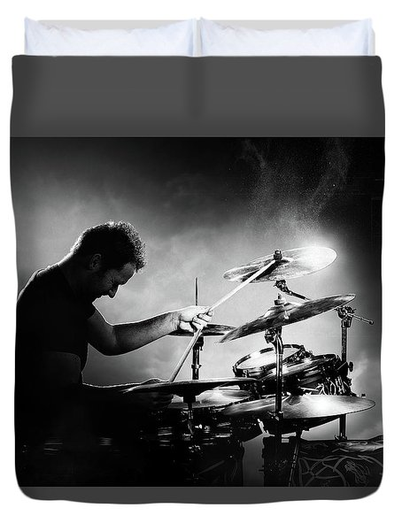 The Drummer Duvet Cover by Johan Swanepoel