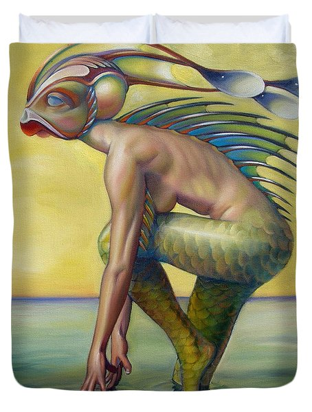 The Finandromorph Duvet Cover by Patrick Anthony Pierson