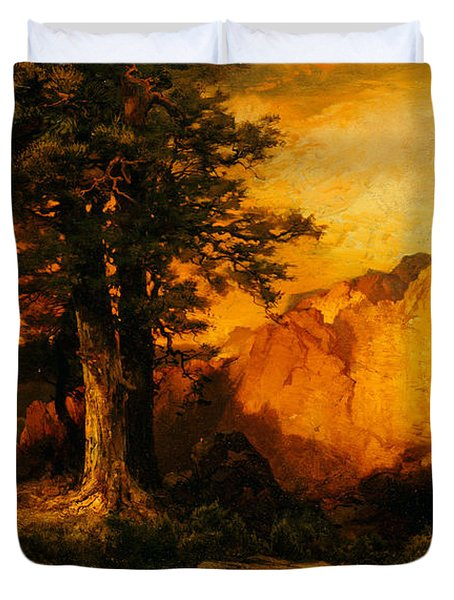 The Grand Canyon Duvet Cover by Thomas Moran