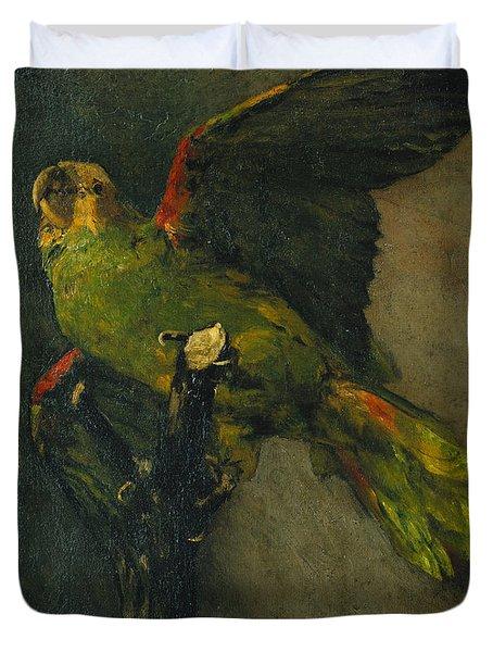 The Green Parrot Duvet Cover by Vincent Van Gogh