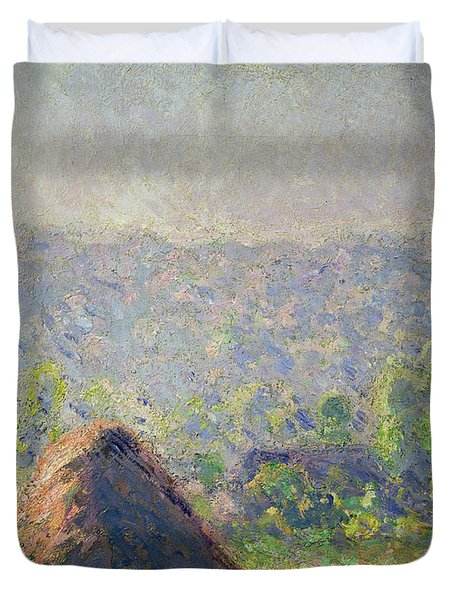 The Haystacks Duvet Cover by Claude Monet