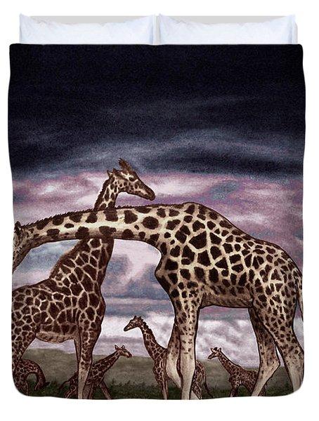 The Herd Duvet Cover by Peter Piatt