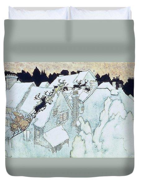 The Night Before Christmas Duvet Cover by Arthur Rackham