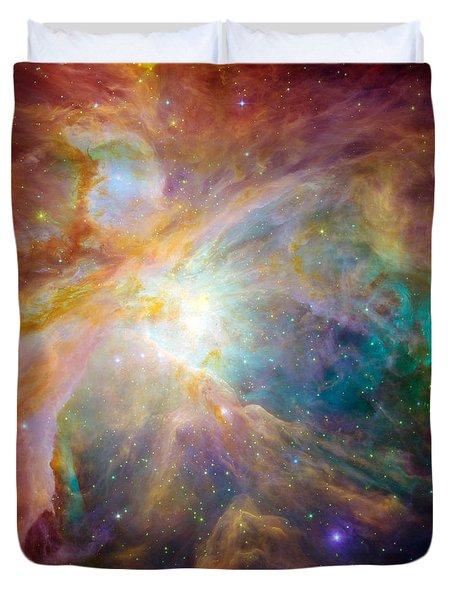 The Orion Nebula Duvet Cover by Stocktrek Images