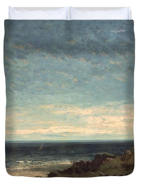 The Sea Duvet Cover by Gustave Courbet