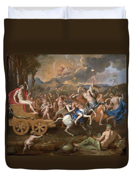 The Triumph Of Bacchus Duvet Cover by Nicolas Poussin