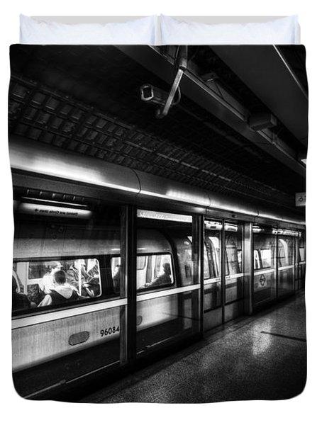 The Underground System Duvet Cover by David Pyatt
