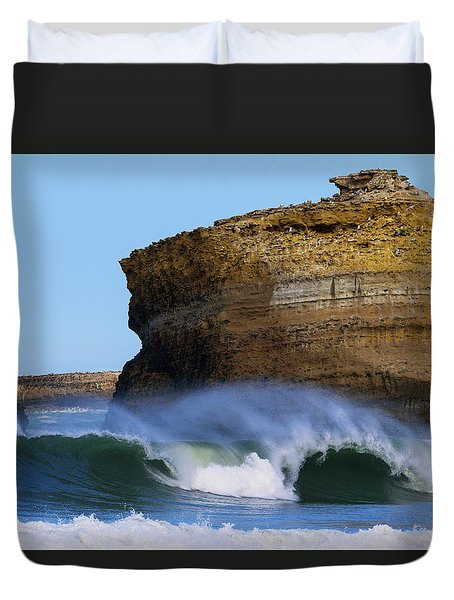 Duvet Cover featuring the photograph The Wave by Thierry Bouriat