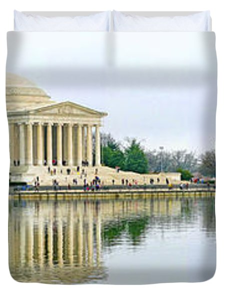 Tidal Basin With Cherry Blossoms Duvet Cover by Jack Schultz