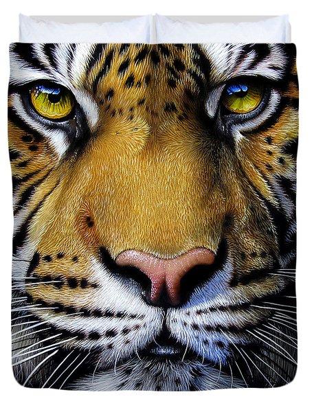 Tiger Duvet Cover by Jurek Zamoyski