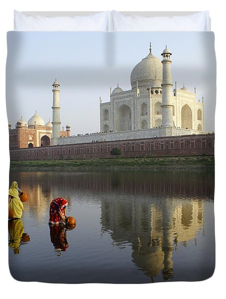 Timeless Taj Mahal Duvet Cover by Michele Burgess