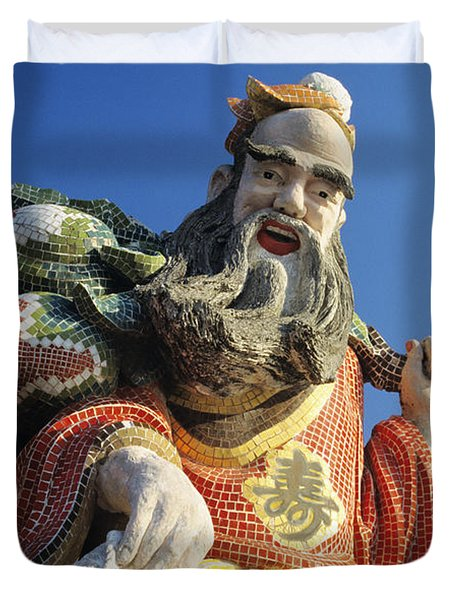 Tin Hua Temple Duvet Cover by Gloria & Richard Maschmeyer - Printscapes