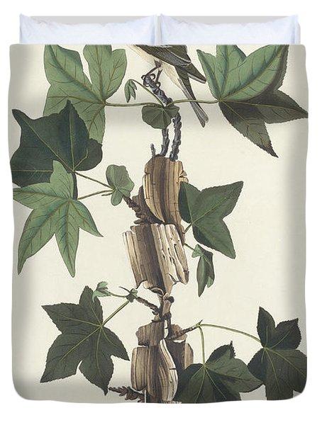 Traill's Flycatcher Duvet Cover by John James Audubon