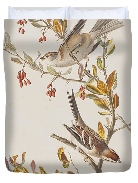 Tree Sparrow Duvet Cover by John James Audubon