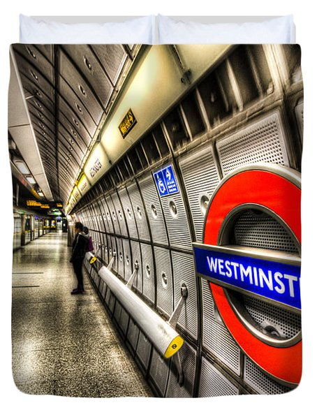 Underground London Duvet Cover by David Pyatt