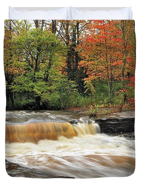 Unnamed Falls Duvet Cover by Michael Peychich