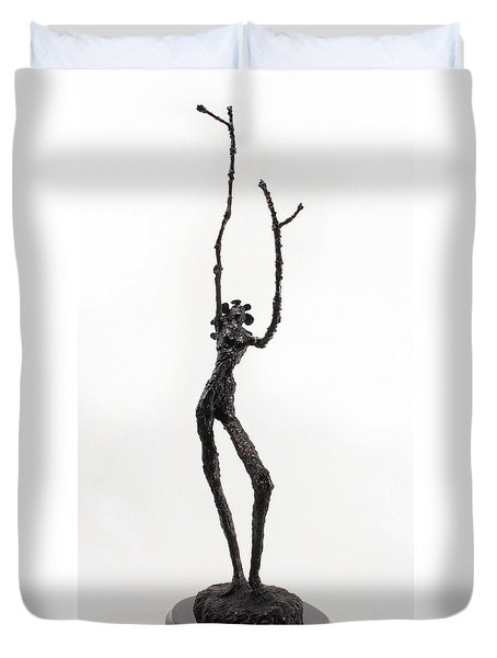 Votary Of The Rain A Sculpture By Adam Long Duvet Cover by Adam Long