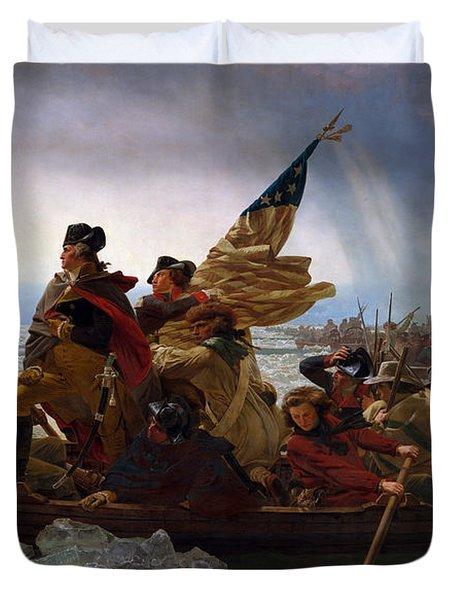 Washington Crossing The Delaware Duvet Cover by Emanuel Leutze