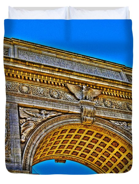 Washington Square Arch Duvet Cover by Randy Aveille