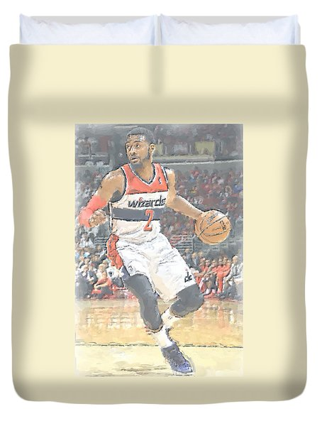 Washington Wizards John Wall Duvet Cover by Joe Hamilton