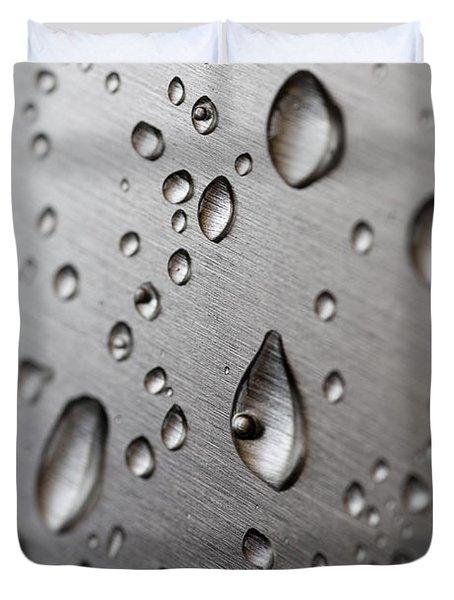 Water Drops Duvet Cover by Frank Tschakert