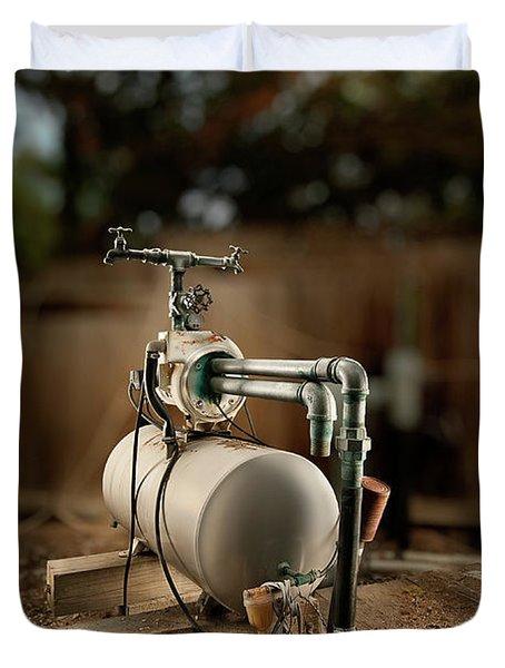 Well Pump Duvet Cover by Yo Pedro