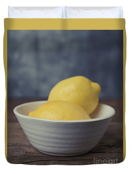When Life Gives You Lemons Duvet Cover by Edward Fielding