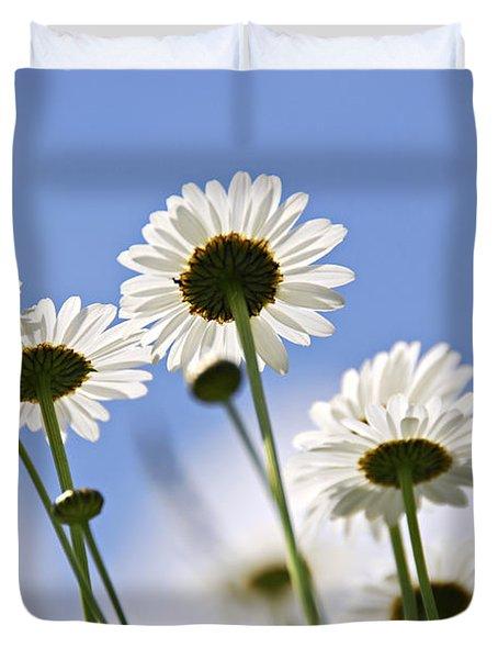White daisies Duvet Cover by Elena Elisseeva