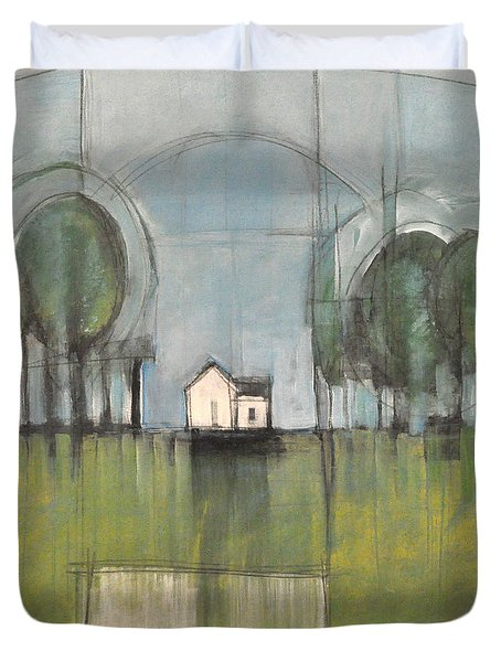 White House Duvet Cover by Tim Nyberg