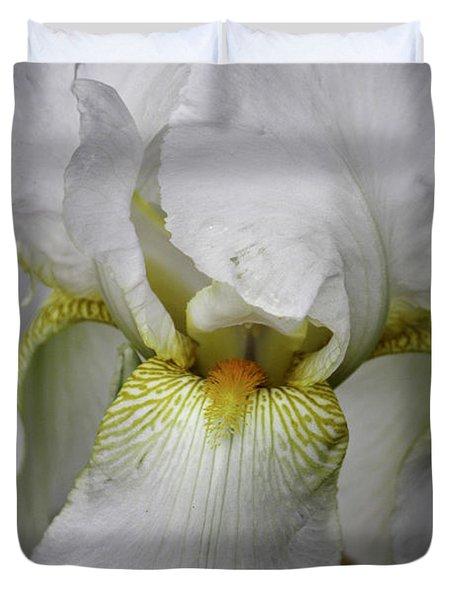 White Iris Duvet Cover by Teresa Mucha
