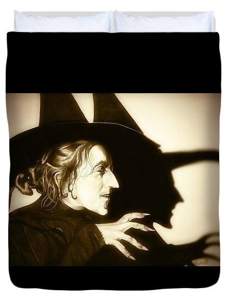 Wicked Witch Of The West Duvet Cover by Fred Larucci