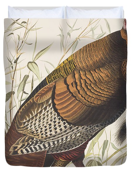 Wild Turkey Duvet Cover by John James Audubon