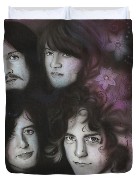 Led Zeppelin - ' Zeppelin ' Duvet Cover by Christian Chapman Art