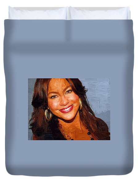 Sofia Vergara Art Print Duvet Cover by Best Actors