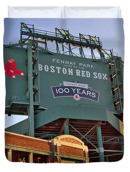 100 Years at Fenway Duvet Cover by Joann Vitali