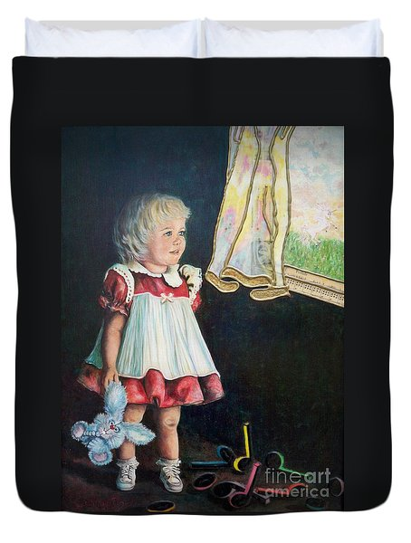 101 Imagination Girl Duvet Cover by Sigrid Tune