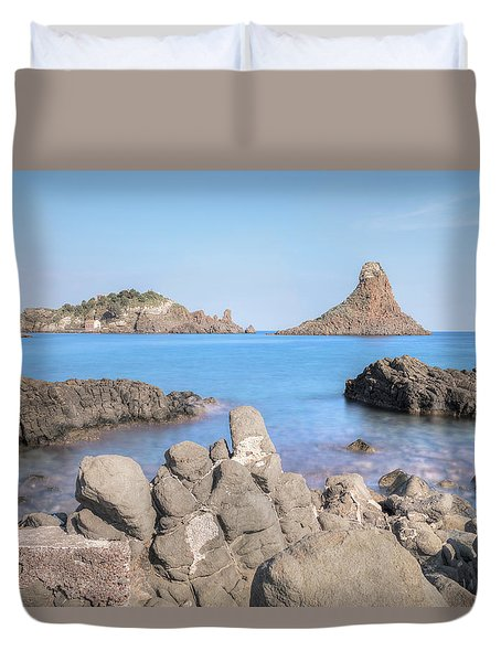 Aci Trezza - Sicily Duvet Cover by Joana Kruse