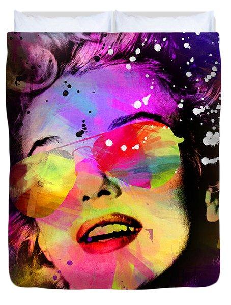Marilyn Monroe  Duvet Cover by Mark Ashkenazi