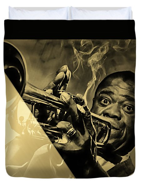 Louis Armstrong Collection Duvet Cover by Marvin Blaine