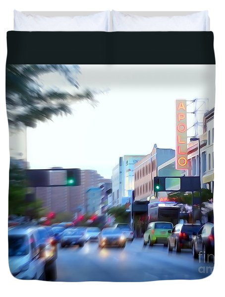 125th Street Harlem Nyc Duvet Cover by Ed Weidman